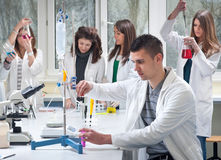 Grupo de estudantes de Medicina Imagens de Stock