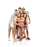 Grupo de estudantes felizes Fotos de Stock