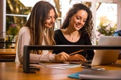 Grupo de estudantes que trabalham junto Fotos de Stock Royalty Free