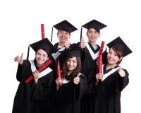 Grupo de estudiante de graduados feliz Fotografía de archivo libre de regalías