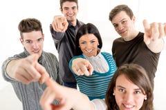 Grupo de estudiantes acertados Fotografía de archivo