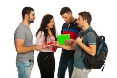 Grupo de estudiantes de la reunión Fotos de archivo