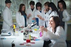 Grupo de estudiantes de medicina Imagenes de archivo