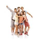 Grupo de estudiantes felices Fotografía de archivo libre de regalías