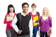 Grupo de estudiantes felices imagen de archivo