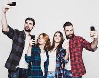 Grupo de estudiantes que toman el selfie Imagen de archivo