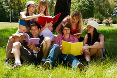 Grupo de estudiantes universitarios Fotografía de archivo