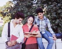 Grupo de estudiantes universitarios. Fotos de archivo libres de regalías