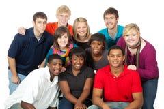 Grupo de estudiantes universitarios multirraciales Fotos de archivo libres de regalías