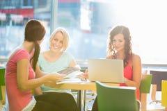 Grupo de estudiantes universitarios que estudian difícilmente para un examen Fotos de archivo libres de regalías