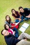 Grupo de estudiar de los estudiantes Foto de archivo libre de regalías