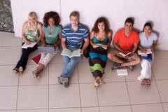 Grupo de estudiar feliz de los estudiantes Imagen de archivo