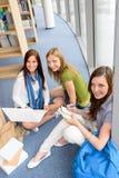 Grupo de estudio adolescente del estudiante en la High School secundaria Fotografía de archivo libre de regalías