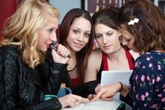 Grupo de estudio de las muchachas Imagen de archivo libre de regalías