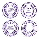 Grupo de etiqueta circular da garantia no fundo branco Fotografia de Stock Royalty Free
