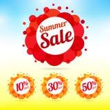 Grupo de etiqueta da venda do verão ilustração royalty free