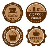 Grupo de etiqueta do café, logotipo do café, vetor ilustração do vetor