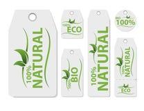 Grupo de etiqueta do preço do vetor para o produto natural Alimento orgânico saudável fresco do vegetariano Etiqueta orgânica, do ilustração stock