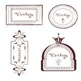 Grupo de etiqueta do vintage Imagem de Stock