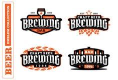 Grupo de etiqueta profissional moderno para uma cerveja do ofício Imagens de Stock Royalty Free