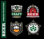 Grupo de etiqueta profissional moderno para uma cerveja do ofício Fotografia de Stock Royalty Free