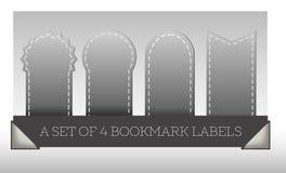 Grupo de etiquetas cinzentas do marcador Fotografia de Stock