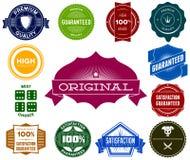 Grupo de etiquetas coloridas do vintage dos modernos Fotografia de Stock Royalty Free