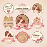 Grupo de etiquetas da beleza Imagens de Stock