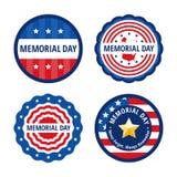 Grupo de etiquetas da cor do Memorial Day Foto de Stock Royalty Free