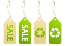 Grupo de etiquetas da ecologia Imagens de Stock