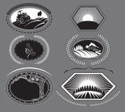 Grupo de etiquetas da exploração agrícola Imagem de Stock Royalty Free