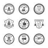 Grupo de etiquetas das eleições ilustração stock