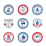 Grupo de etiquetas das eleições ilustração royalty free