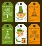 Grupo de etiquetas das felicitações para o dia de St Patrick Foto de Stock Royalty Free