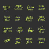 Grupo de etiquetas do alimento Ilustração do Vetor
