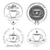 Grupo de etiquetas do café do vintage Fotografia de Stock
