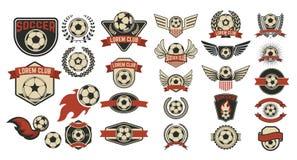 Grupo de etiquetas do clube do futebol Imagem de Stock Royalty Free