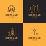 Grupo de etiquetas do estúdio de gravação Imagem de Stock Royalty Free
