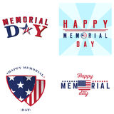 Grupo de etiquetas do Memorial Day Foto de Stock