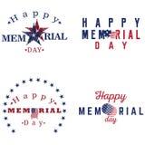 Grupo de etiquetas do Memorial Day Imagem de Stock
