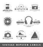 Grupo de etiquetas do moderno do vintage Fotografia de Stock Royalty Free