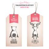 Grupo de etiquetas do presente do dia de Valentim Imagens de Stock