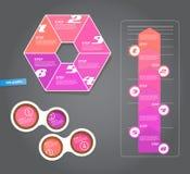 Grupo de etiquetas do rosa para a grande variedade de uso Imagens de Stock