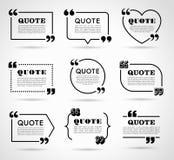 Grupo de etiquetas do vetor para citações do texto Imagens de Stock