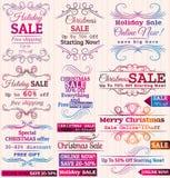 Grupo de etiquetas e de bandeiras da oferta da venda especial Fotos de Stock Royalty Free