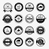 Grupo de etiquetas e de fitas para a venda Foto de Stock Royalty Free