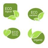 Grupo de etiquetas ecológico Imagens de Stock