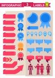 Grupo de etiquetas para o infographics Fotografia de Stock Royalty Free