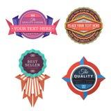 Grupo de etiquetas retros do logotipo do vetor e de bandeiras do estilo do vintage Fotos de Stock Royalty Free