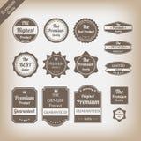 Grupo de etiquetas superior da qualidade do vintage ilustração do vetor